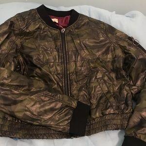 Camo leather jacket